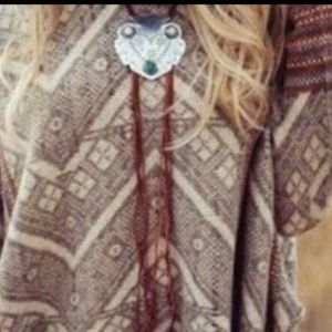 New Free People Montana suede bolo necklace